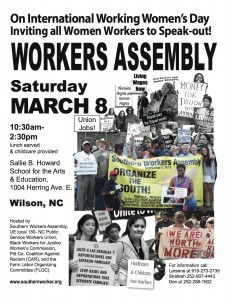SWA IWWD Wilson Assembly, March 8, 2014 Flyer