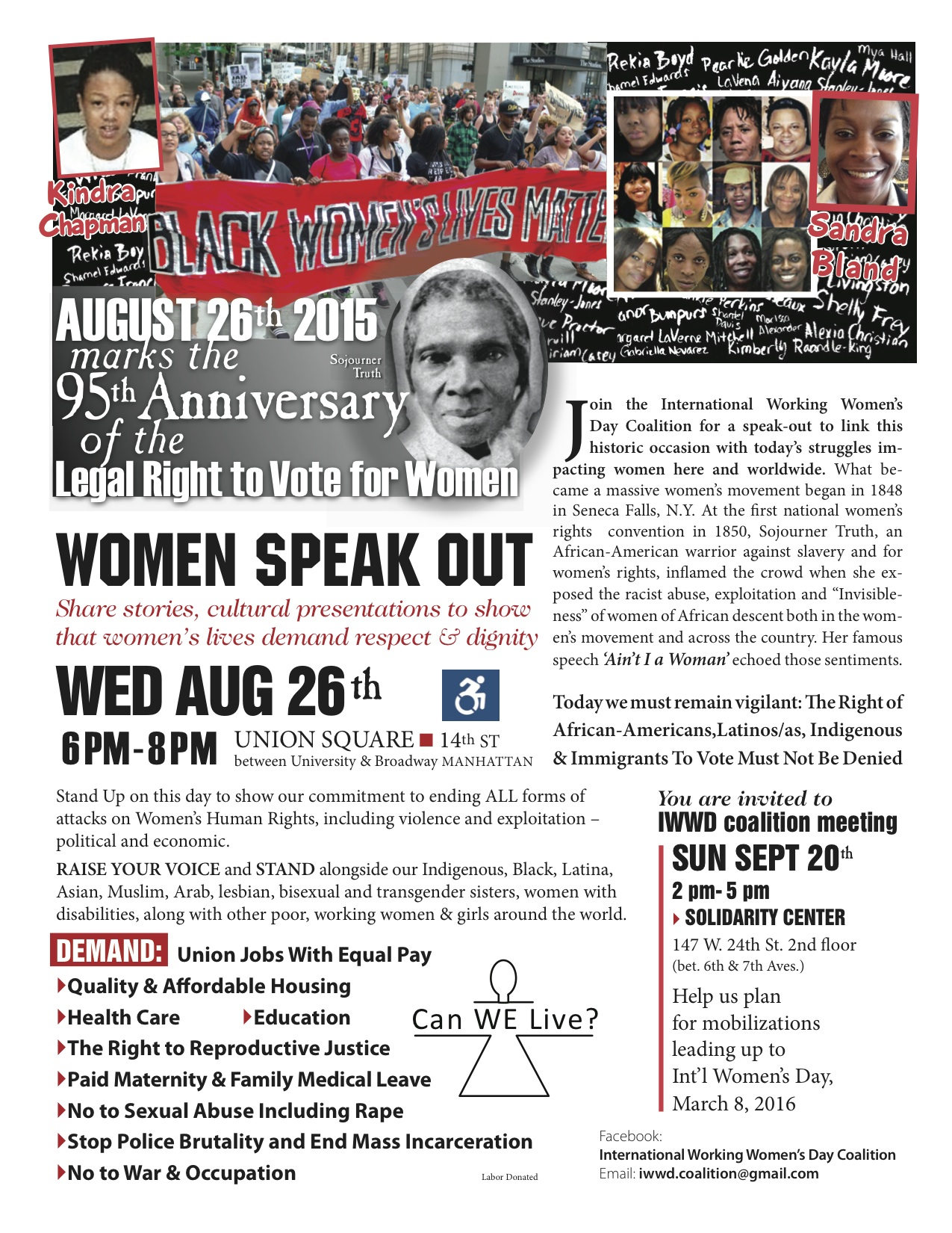 Women will continue to stand up for our rights after march new york daily news - Aug 26 Iwwc_color Leaflet