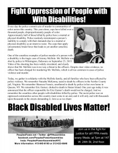 Disabilities Flier