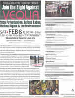 SF Educational Action Conference Against VEOLIA